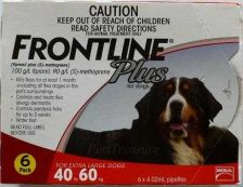 Buy Frontline Plus Extra Large XL Dogs 89-132lbs Merial 6 Months NIB