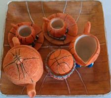 Buy Cute basketball theme tea set