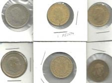 Buy Spain Coin LOT 3: 6 Coins 1 & 5 Peseta