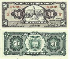 Buy Ecuador 1988 Banknote 50 Sucres