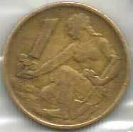 Buy Czechoslovakia 1 Koruna 1976 Coin Woman planting Linden tree