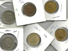 Buy Spain Coin LOT 4: Six Coins 1 & 5 Peseta
