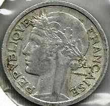Buy 1945 France 2 Francs Coin WWII Era Currency