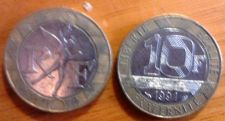 Buy Republic of France 10 Francs 1991 Bi-Metallic