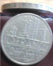 Buy Republic of France 10 Francs 1977 rim engraved Liberty Egality Brotherhood