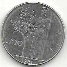 Buy 1981 Italy 100 Lire Coin