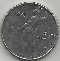 Buy 1978 Italy 50 Lire Coin