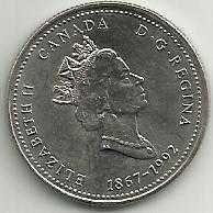 Buy Canada 25 Cent Saskatchewan 1867 to 1992 Commemorative