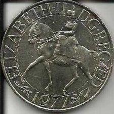 Buy 1977 BRITISH CROWN - Elizabeth II - Beautiful coin! Silver Jubilee of Reign