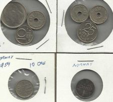 Buy NORWAY Eight (8) COIN LOT