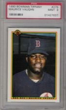 Buy 1990 Bowman Tiffany #275 Maurice Mo Vaughn Rookie RC Boston Red Sox PSA MINT 9