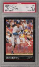 Buy 1992 Leaf Gold Previews #20 Robin Yount Milwaukee Brewers PSA NM-MT+ 8.5 HOF