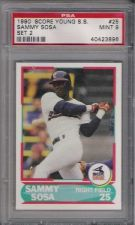 Buy 1990 Score Young Super Stars #25 Sammy Sosa Chicago White Sox Cubs PSA MINT 9