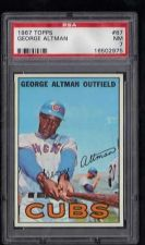 Buy 1967 Topps #87 George Altman Chicago Cubs PSA NM 7