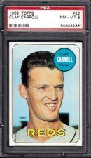 Buy 1969 Topps Baseball #26 Clay Carroll Cincinnati Reds PSA 8 NM-MT