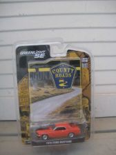 Buy 1:64 COUNTY ROADS 1970 FORD MUSTANG COUPE ORANGE BY GREEN LIGHT 69