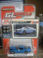 Buy 1:64 GL Muscle 2010 Ford Mustang GT Grabber Blue by Greenlight B69