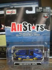 Buy 1:64 All Stars 1969 Corvette Coupe #69 Blue & Yellow by Maisto B69