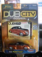 Buy 1:64 DUB City Old Skool 1940 Pontiac Orange & Glack by Jada Toys B07