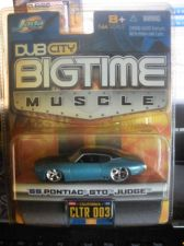Buy 1:64 DUB City Old Bigtime Muscle 1969 Pontiac GTO Judge Blue by Jada Toys B07