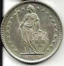 Buy Switzerland 2 Franks 1981 - Standing Helvetia with lance and shield