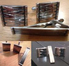 Buy Men's High Quality SilverColor Retro Cuff links & Clasp Great gift!