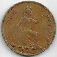 Buy GREAT BRITAIN 1 Penny 1937