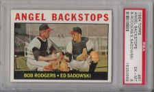 Buy 1964 Topps #61 Angel Backstops Los Angeles PSA EX-MT 6 Rodgers Sadowski
