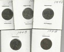 Buy 5 US 1943 Steel Wheat Pennies Set 2