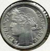 Buy 1941 France 1 Franc Coin WWII ERA Currency
