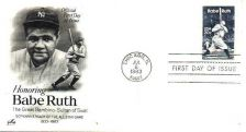 Buy SCOTTS #2046 BABE RUTH FIRST DAY COVER BY ART CRAFT.