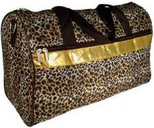 "Buy Leopard with Gold Trim 19"" Duffle Bag-NWT"
