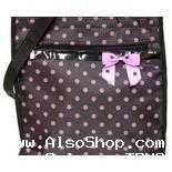 Buy Boutique Pink&Black Polka Dot Diaper Bag/Tote-NWT