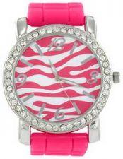 Buy Stylish Zebra Jelly Watch-PINK-NEW