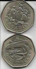 Buy 1988 Barbados 1 Dollar Coin Flying Fish