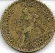 Buy 1923 France 2 Franc Aluminum Bronze World Coin Mercury Seated