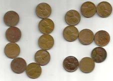 Buy 18 US Wheat Pennies –Various Dates