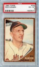 Buy 1962 Topps #245 Ron Hansen Baltimore Orioles PSA EX-MT 6