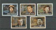 Buy SCOTTS # 4248-52 AMERICAN JOURNALISTS. Complete used set, off paper.