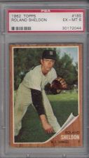 Buy 1962 Topps #185 Roland Sheldon New York Yankees PSA EX-MT 6