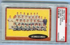 Buy 1962 Topps #132 Los Angeles Angels team card PSA EX 5