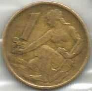 Buy Czechoslovakia 1 Koruna 1969 Coin Woman planting Linden tree