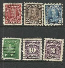 Buy 6 STAMP CANADIAN LOT