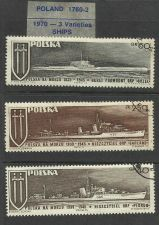 Buy POLAND SHIPS 1970 3 Varieties