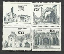 Buy MEXICO - Sc 1338-41 Colonial Monuments 4 Varieties 1983