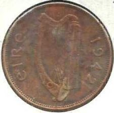 Buy 1942 Ireland Penny - Historic WWII Currency!!!!