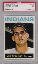 Buy 1964 Topps #216 Mike De La Hoz Cleveland Indians PSA NM 7