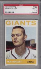 Buy 1964 Topps #189 Bob Hendley San Francisco Giants PSA 7.5 NM+