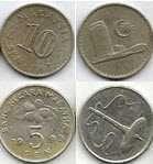 Buy MALAYSIA 5 Sen 1999 & 10 Sen 1967 (lot of 2 coins)
