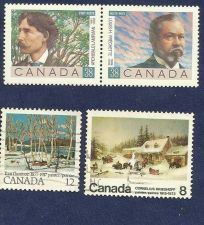 Buy Canada QEII 1989 Canadian Poets Sg 1329 & 1330 Used plus two Bonus Stamps